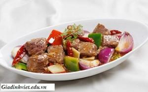 Cách làm món thịt bò xào cay, Cach lam mon thit bo xao cay